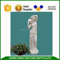 Home decoration 125cmH fiberglass life size lady statues