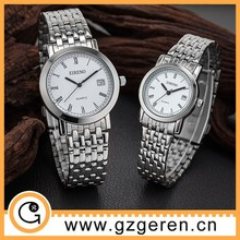 Clear stock Roman number all stainless steel watch cheap for wholesale
