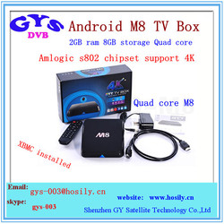 2gb 8gb quad core M8 android streaming tv box with Kodi XBMC pre-installed M8 android sticks