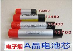 factor price 13450 3.7v 650mah cylindrical li-ion battery for e-cigarette