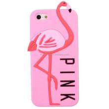 Delicate crane design silicone rubber 3D cell phone case for Samsung S3 S4 S5 S6