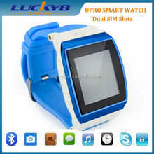 2015 1.55 inch black/white display smart watch sync for phone with dual sim card FM Radio,Music play