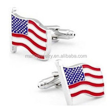 New fashion arc edge the United States flag cuff buttons WLXK-1041