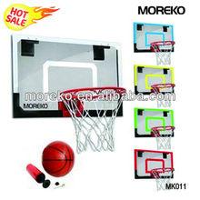 "Mini Basketball Backboard/Hoop MK011 with 18"" PC/Fiberglass/Acrylic Backboard,spring ring/rim"