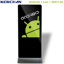 42 inch LED free standing Android network headrest lcd ad player