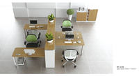 Hot Sale Modular Simple Style Office Workstation with Shelf for Large Office