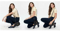 высокая мода slim fit упругой высокой талией легко джинсы xs-l kz4208