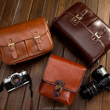 Popular Waterproof dslr camera case,OEM handmade shoulder pu camera bag,cute pu /leather travel camera hand bag for dslr camera