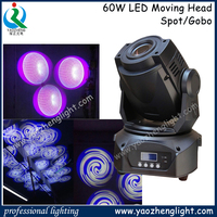 Guangzhou Led Light Mini 60W led moving head for disco/bar/stage/parties