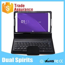 Universal 8 inch Tablet leather case bluetooth keyboard for Xperia Z3 Tablet Compact 8''