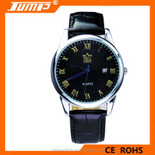 Fashion classic business men watch waterproof quartz with calendar leather watch