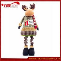 Handmade Spring 145cm Reindeer Plush Toys Wholesale Christmas Decorations