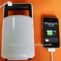 Rechargeable 18LED solar camping lantern with cell phone charger