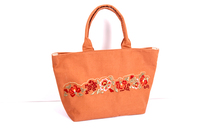 Chinese embroidery cotton lady's fashion handbag shopping tote bags
