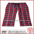 de color rojo a cuadros de franela de algodón de la tela para pijamas