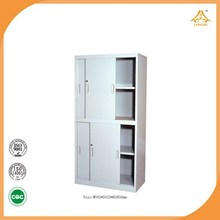 Grey steel sliding door file cabinet roll door storage cabinets tall storage cabinets with doors