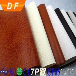 leather flocking backing sofa fabric ,embossed leather for sofa