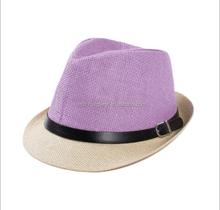 Handmade Cheap Women Summer Beach Straw Fedora Hat