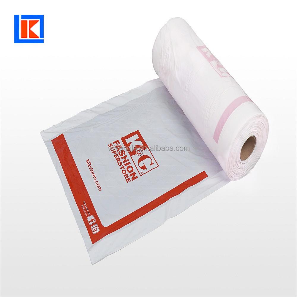 Impresión personalizada al por mayor ropa cubierta de polvo desechables LDPE prenda bolsa en rollo