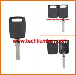 Plastic ABS transponder chip key cover case shell for Audi transponder key cover blank fob shell case replacement with logo