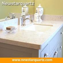 Quartz stone commercial bathroom sink countertop