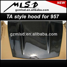 auto parts car packed carbon fiber TA style hood/bonnet/engine hood cover for 08-10 957