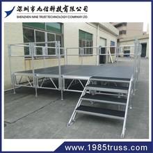 High quality and good price aluminium frame wooden platform concert stage