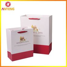 Cotton Handle Paper Shopping Bag Velvet Bags For Gifts