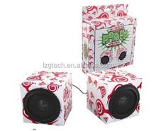 Paper foldable speaker, Foldable Promotional Eco Speakers,promotion product/foldable speaker made of paper
