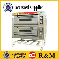 Commercial Pizza oven bread making machine baking equipment gas electric 2 deck oven for bakery