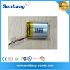 Bluetooth headset battery rechargeable 3.7v 400mah lipo battery cell with pcm+wire+connector