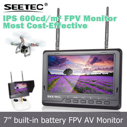 7 inch IPS panel hd fpv monitor 1024*600 high resolution LED backlight ground station lcd display big helicopter toys