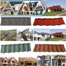 popular classic colorful stone coated metal roofing tile, metal corrugated tile roofing,Stone Chip Coated Metal Roof Tile sheet