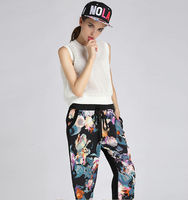 Brand new design women's slack pants.spandex polyester woman pants.designer short pants.