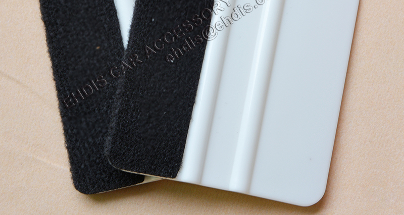White Squeegee With Fabric Cover Rubber Bubble Remove