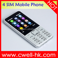 2.8 inch big screen celulares chinos 4 sim card