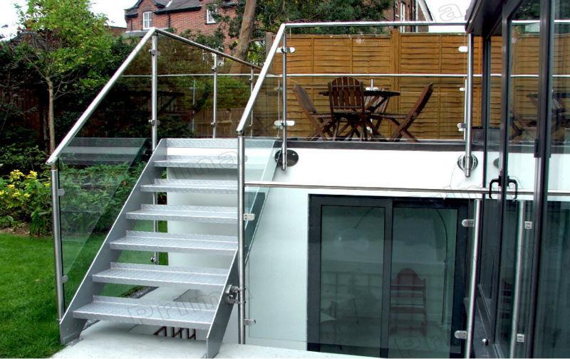 Edelstahl geländer säule für den außenbereich balkon brüstung und ...