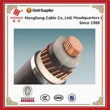 Middle Voltage Mv 15kv Single Core Copper Conductor XLPE Insulation Copper Wire Shield Power Cable