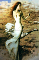 2015 Sex girl beauty picture of beauty printed oil painting diy painting by numbers