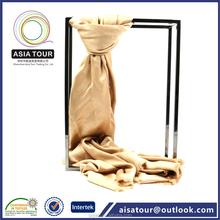 Suaves 50% de la cachemira 50% bufanda de seda verdadera, caliente de la cachemira de seda tela, un Color mantón