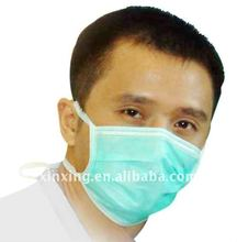 pp non woven surgical face mask 3 plies with ties