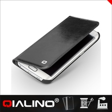 QIALINO Brand New Design Custom-Made Leather Case For Samsung For Galaxy S6 For Edge
