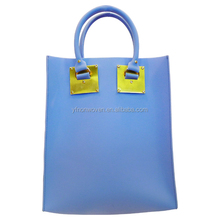 custom made silicone waterproof shopping bag,ECO friendly fashion handbag