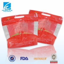 flexible laminated plastic custom packaging poly ziplock bag for chicken