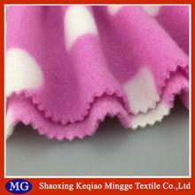 100% polyester micro polar fleece nurse printed fleece fabric