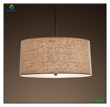 Fabric lamp shades vintage chandelier for bedroom decoration