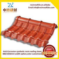 Plastic roofing sheet synthetic resin roof tiles for residential house