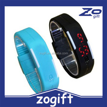 ZOGIFT 2015 new products colorful Sports Simple Touch Led Watch Silicone