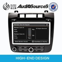 auto radio car dvd for touareg body kit with bluetooth OPS IPAS steering wheel control air condition touareg body kit