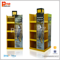 Hot New pos cardboard t shirt display stand with carton pallet board display